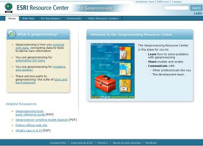 ESRI Geoprocessing Center Now Open