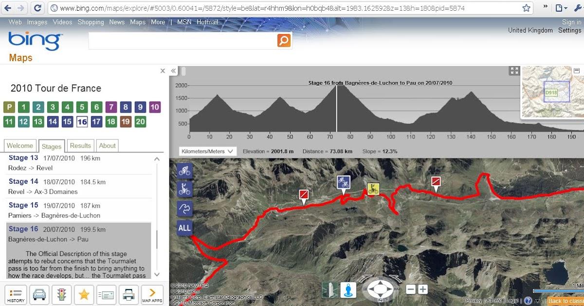 Bing Maps Watch: 2010 Tour De France On Bing Maps