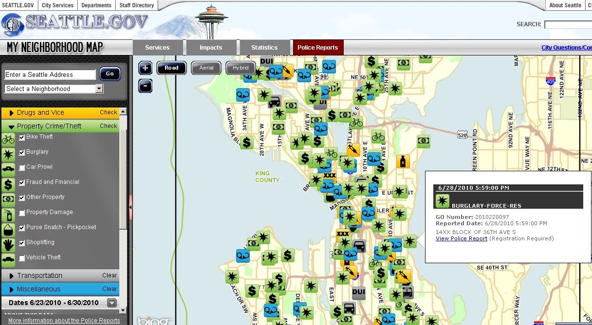 Seattle gov 'My Neighborhood' – Bing Maps | Mapsys info Mapsys info