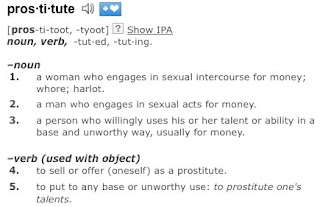 prostitute verb