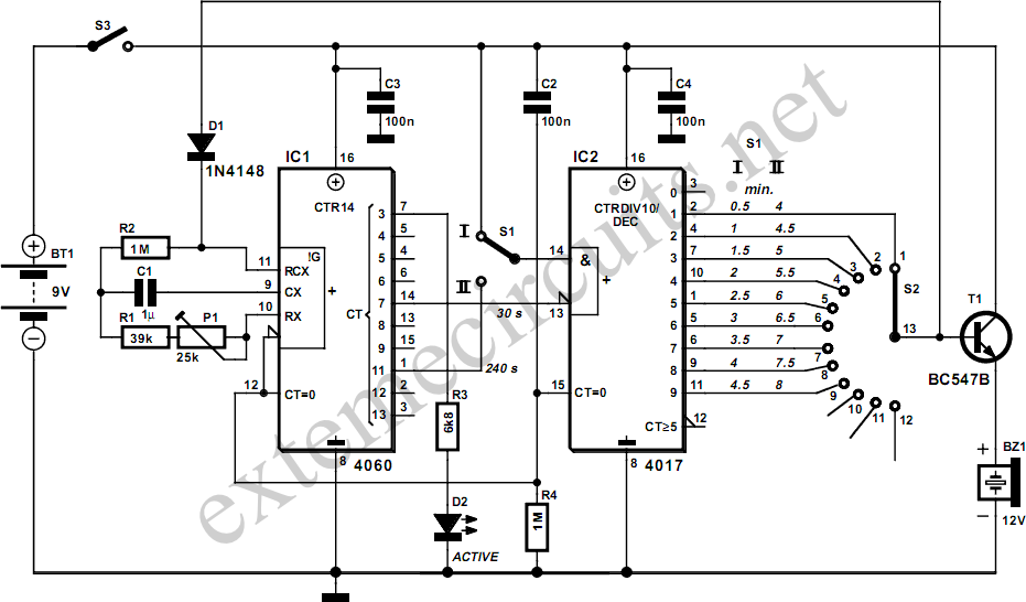 Schematic Reference: Egg Timer
