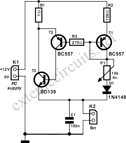 this processor fan control circuit is intended to be used with