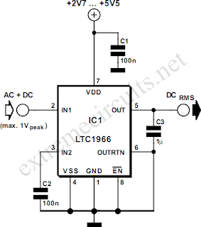Wiring diagram for 3 way switch: RMS to DC Converter on