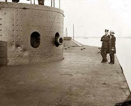 Deck & Turret of the USS Monitor on the James River, Va. 1862