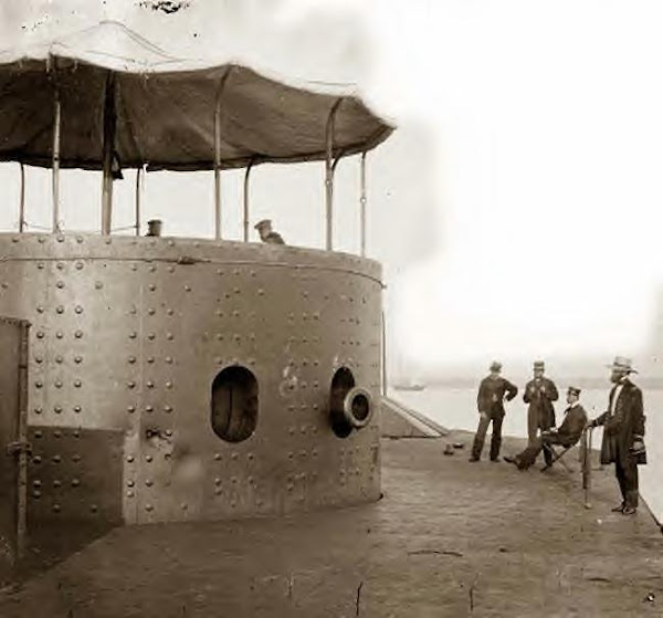 USS Monitor on the James River, Va. 1862