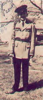 Jerry in his band uniform, 1946
