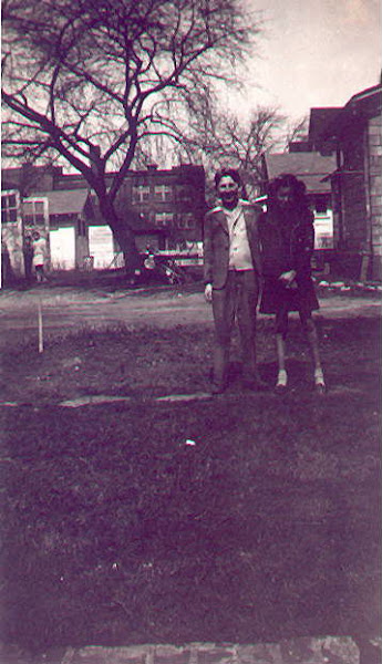Jerry with his cousin, Louise Bogard, 1944