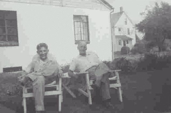 Jerry with his uncle, Guy Owens only a few months before his death