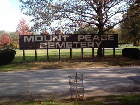 Mount Peace Cemetery. Akron, Ohio
