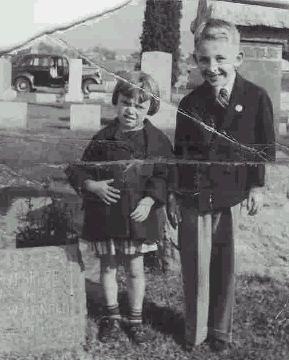 Jerry & his cousin, Birdie Longgood around 1939