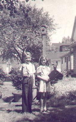 Jerry & Cousin, Louise Bogard around 1942