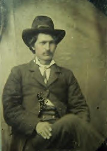 Frank James during his robbery and murdering days
