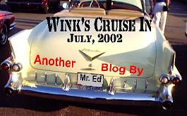 Click picture for the July, 2002 Cruise-In at Wink's