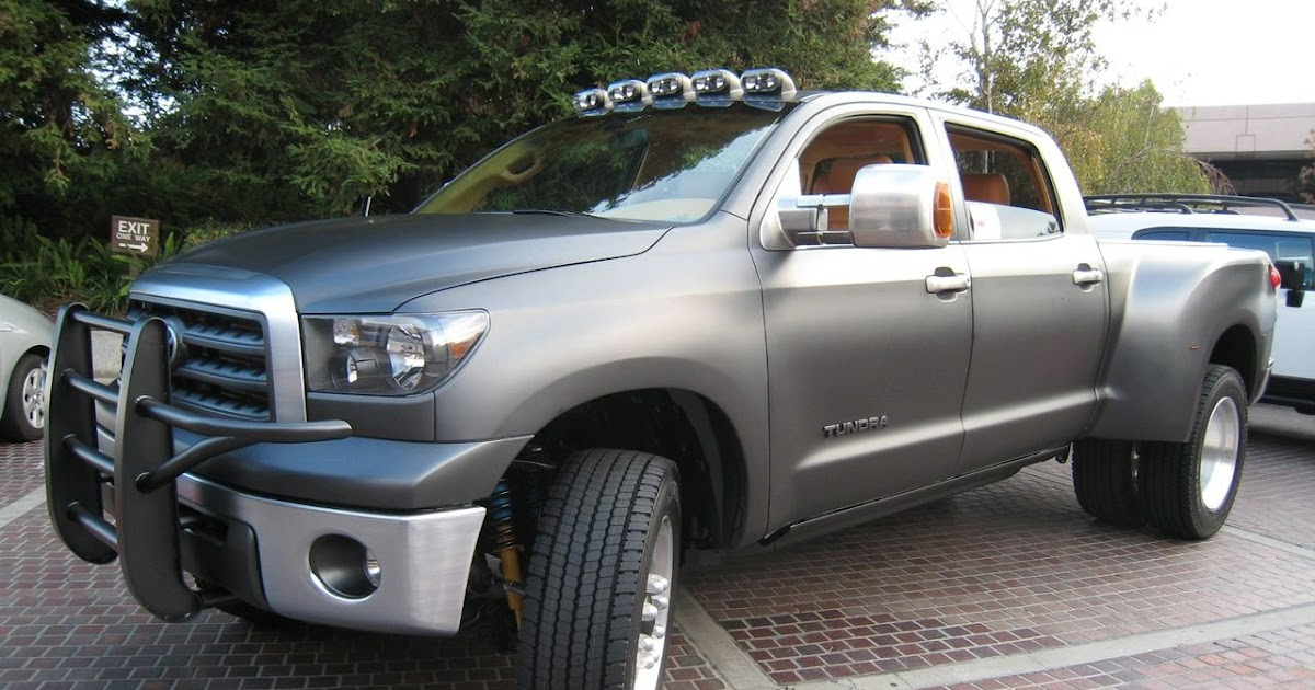 toyota tundra diesel dually project truck at sema 2008 car tuning styling. Black Bedroom Furniture Sets. Home Design Ideas