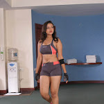 Beautiful Babe Madalasa Sharma Maintaining Her Structure Doing  Exercises At Gym...