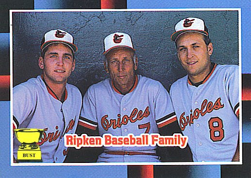 Baseball Card Bust Ripken Baseball Family 1988 Donruss