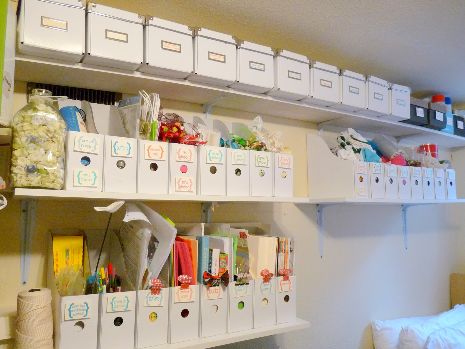 Craft Room Organisation: I Heart New Year's Challenge Day 1- My White, Organized