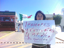 Jovenes amlo protestando en contra de la privatizacion de pemex