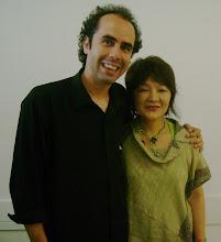 Cristhian e Chie Yuki no workshop sobre o grupo Yukiza 26/02/2008. SESC Consolação.