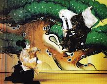 bonecos da peça Tsuna Yakata (Casa de Tsuna) grupo Yukiza Japão.