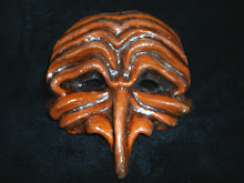 Máscaras teatrais feitas por mim, Pantalon, Comédia Del'arte.