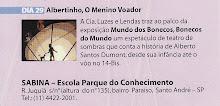 """Dia 29 de junho apresentamos A peça: 'Albertinho o menino voador"""" no Parque Sabina, em Sto André."""