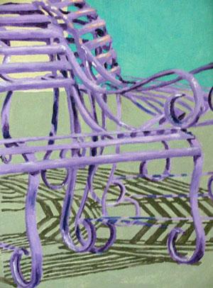 Purple Benches by Nancie Johnson
