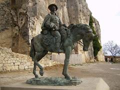 Morella, estatua ecuestre de Cabrera (antes de su traición)