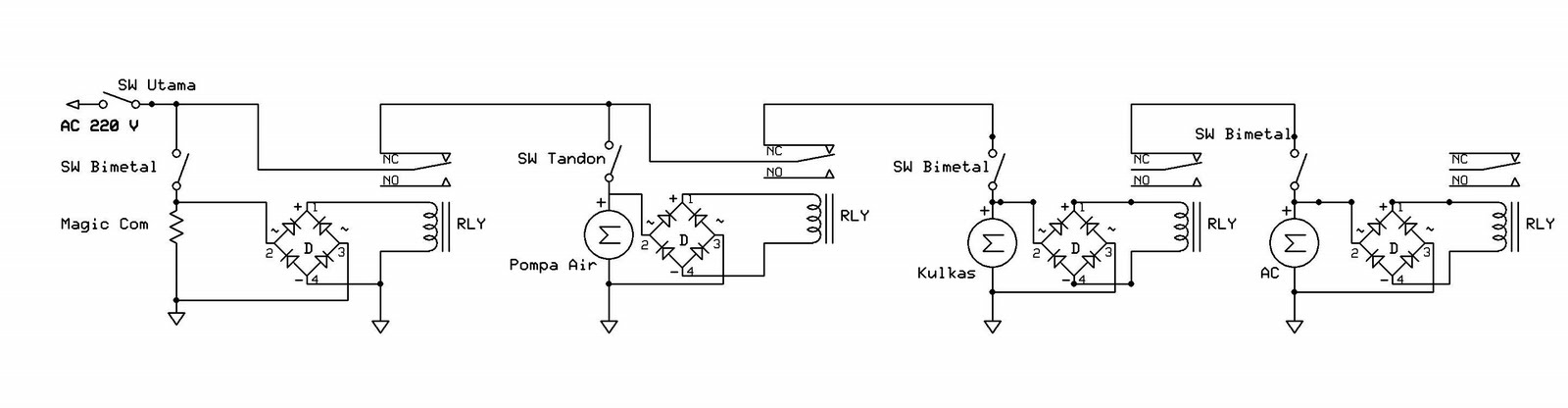 Lukman arif wijaya trik mengakali daya pln yang terbatas instalasi relay listrik pln morokuat asfbconference2016 Gallery