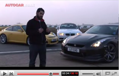 Video: Autocar Pits Nissan GT R Aganist BMW M3 & Porsche 911 GT3