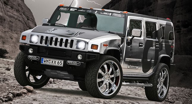 cfc proves there 39 s no limit to bad taste with chromed out hummer h2. Black Bedroom Furniture Sets. Home Design Ideas