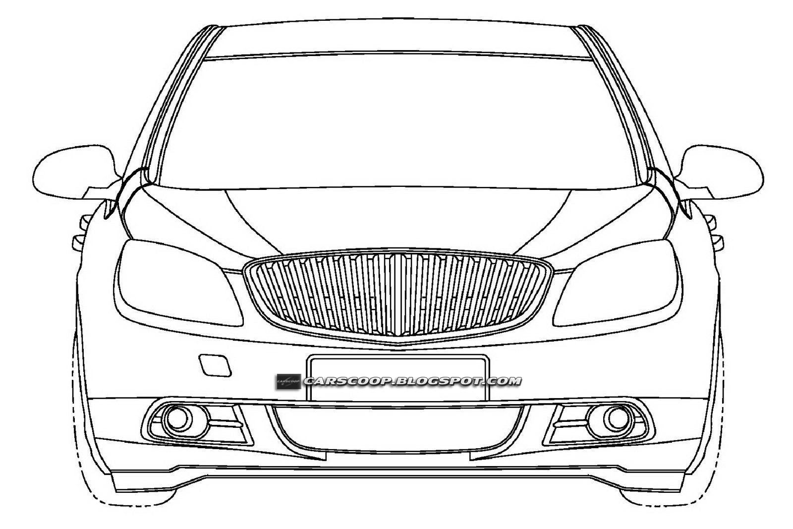 The Car U S Patent Drawings Of Buick Excelle Sedan