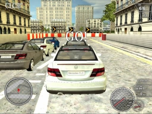 Mercedes benz offers downloadable clc class race game for Mercedes benz car racing games