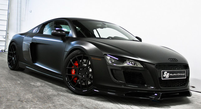 Sr Auto Group S New Valkyrie Project Is All About Adding Some Dark Style To Audi R8 Supercar The Tuning House Starts Off With A Matte Black Wrap For