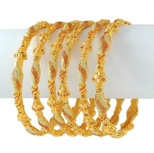 Win Min: Gold Bangles Designs, Bridal Bangle Sets, Latest ...