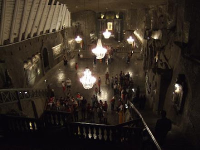 inside the Wieliczka Salt Mine