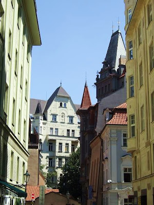 beautiful buildings at the Jewish Quarter, Prague