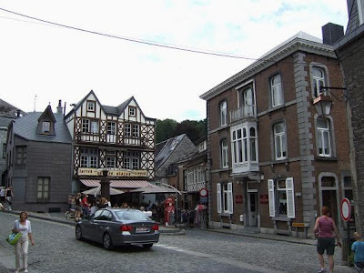 view of streets in Durbuy, Belgium
