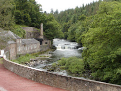 New Lanark and Clyde Waterfall
