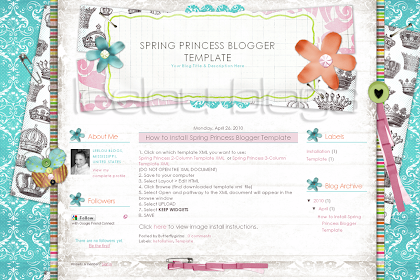 Butterflygirlms Rambles On: New Spring Blogger Templates ...