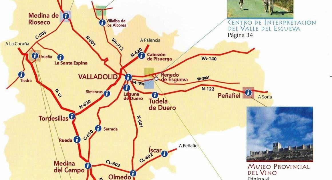 La oficina de turismo virtual de la ribera del duero mapa for Oficina de turismo de valladolid