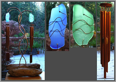 freestanding wind chime, deluxe, Tim Kline