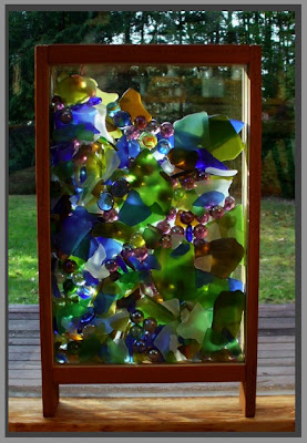 suncatcher, freestanding, beach glass, sea glass, Tim Kline
