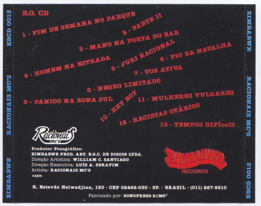 cd racionais mc raio-x do brasil
