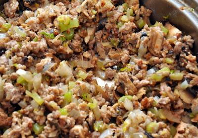 Turkey Sausage pot pie cooked