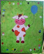 Vaca com balão