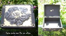 Caixa preta com flor