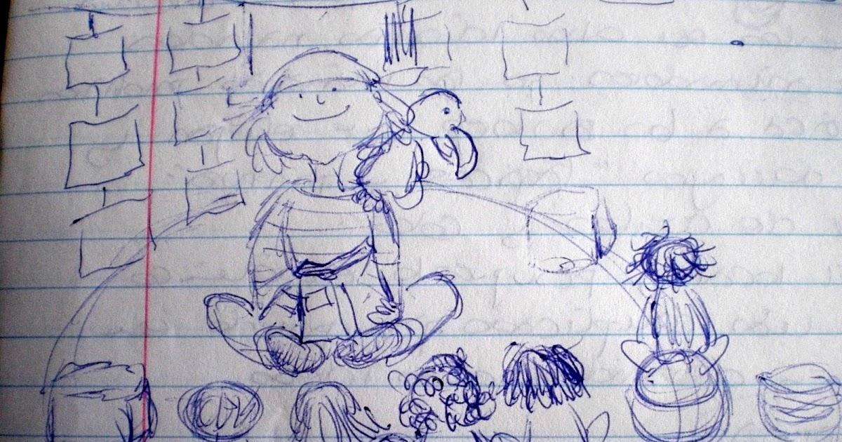 Libreta De Dibujo Con Dibujos Infant: Ilustraciones Infantiles. Mónica Ortiz: Dia Internacional