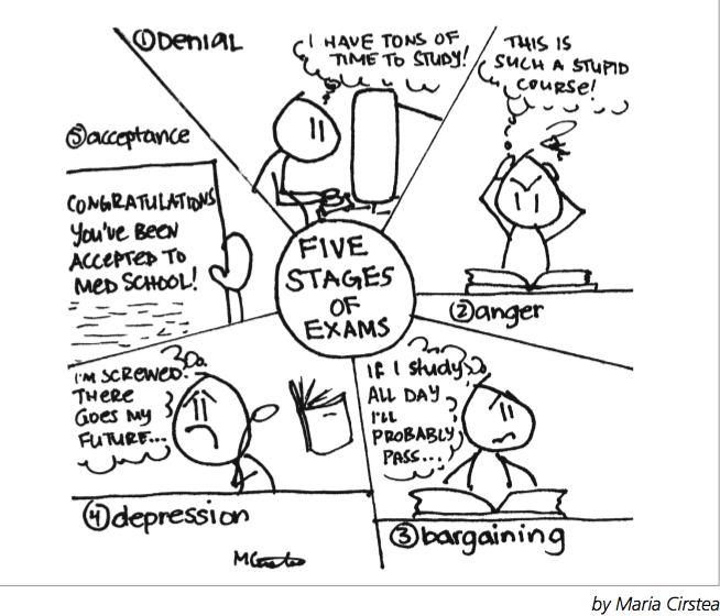 A. P. Scribbles: 5 Stages of Exams