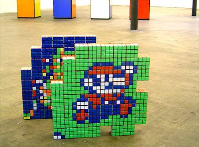 Arte com cubos mágicos